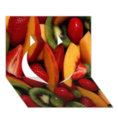 Fruit Salad Heart 3d Greeting Card (7x5) by AnjaniArt