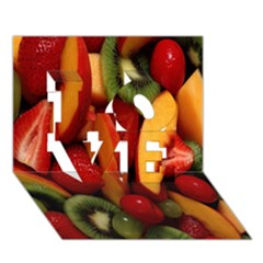 Fruit Salad Love 3d Greeting Card (7x5) by AnjaniArt