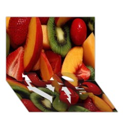 Fruit Salad Love Bottom 3d Greeting Card (7x5) by AnjaniArt