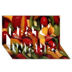Fruit Salad Best Wish 3d Greeting Card (8x4) by AnjaniArt