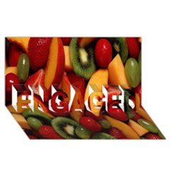 Fruit Salad Engaged 3d Greeting Card (8x4) by AnjaniArt
