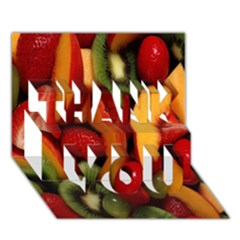 Fruit Salad Thank You 3d Greeting Card (7x5) by AnjaniArt