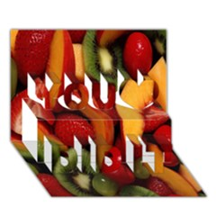 Fruit Salad You Did It 3d Greeting Card (7x5) by AnjaniArt