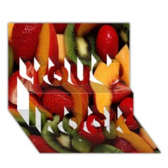 Fruit Salad You Rock 3d Greeting Card (7x5) by AnjaniArt