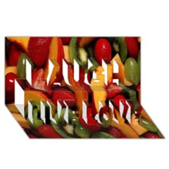 Fruit Salad Laugh Live Love 3d Greeting Card (8x4) by AnjaniArt