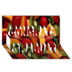 Fruit Salad Congrats Graduate 3d Greeting Card (8x4) by AnjaniArt