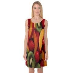 Fruit Salad Sleeveless Satin Nightdress by AnjaniArt