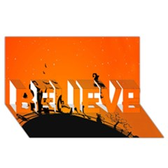 Halloween Day Believe 3d Greeting Card (8x4)