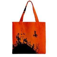 Halloween Day Grocery Tote Bag by AnjaniArt