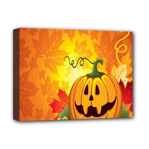 Halloween Pumpkin Deluxe Canvas 16  X 12   by AnjaniArt