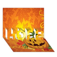 Halloween Pumpkin Hope 3d Greeting Card (7x5) by AnjaniArt