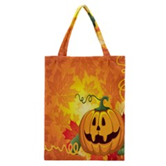 Halloween Pumpkin Classic Tote Bag by AnjaniArt