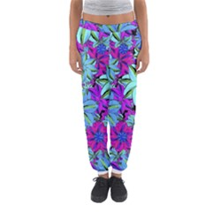 Vibrant Floral Collage Print Women s Jogger Sweatpants by dflcprintsclothing