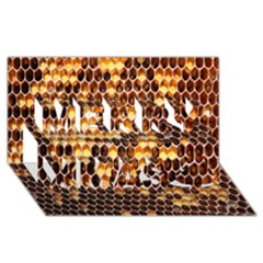 Honey Honeycomb Jpeg Merry Xmas 3d Greeting Card (8x4) by AnjaniArt