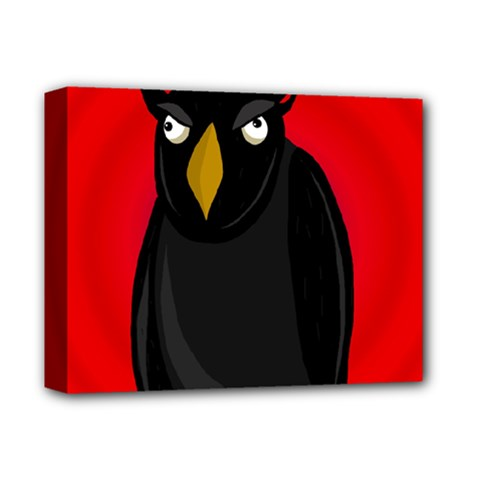 Halloween   Old Raven Deluxe Canvas 14  X 11  by Valentinaart