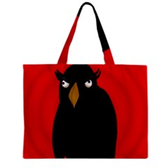 Halloween   Old Raven Zipper Mini Tote Bag by Valentinaart