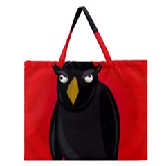 Halloween   Old Raven Zipper Large Tote Bag by Valentinaart