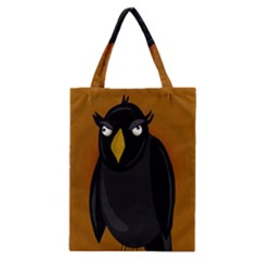 Halloween   Old Black Rawen Classic Tote Bag by Valentinaart