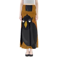 Halloween - Old Black Rawen Maxi Skirts by Valentinaart