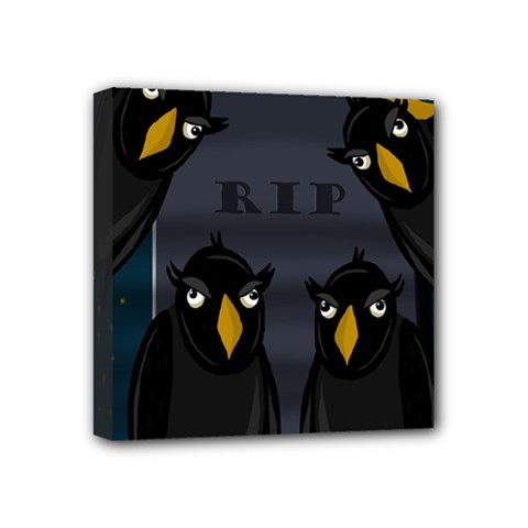 Halloween   Rip Mini Canvas 4  X 4  by Valentinaart