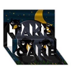 Halloween - Rip Take Care 3d Greeting Card (7x5)
