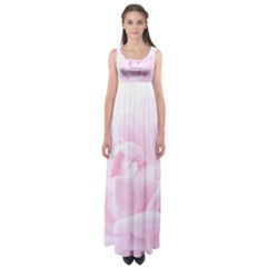 Pink Rose Empire Waist Maxi Dress by Aanygraphic