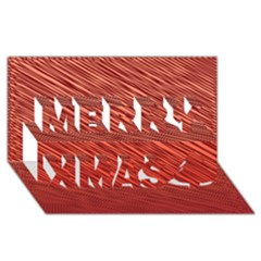 Line Design Merry Xmas 3d Greeting Card (8x4) by Aanygraphic