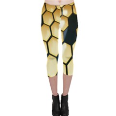 Honeycomb Yellow Rendering Ultra Capri Leggings