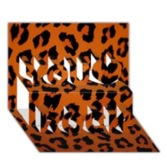 Leopard Patterns You Rock 3d Greeting Card (7x5)