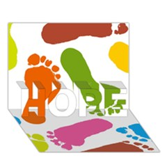 Lip Handprint Hope 3d Greeting Card (7x5)