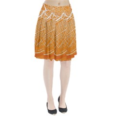 Map Art Pleated Skirt
