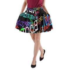 Miami Text A Line Pocket Skirt