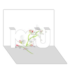 Isolated Orquideas Blossom I Love You 3d Greeting Card (7x5)