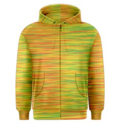 Green And Oragne Men s Zipper Hoodie by Valentinaart