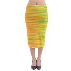 Green And Oragne Midi Pencil Skirt by Valentinaart