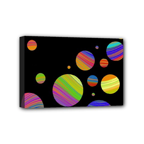 Colorful Galaxy Mini Canvas 6  X 4  by Valentinaart