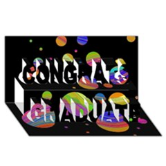 Colorful Galaxy Congrats Graduate 3d Greeting Card (8x4)