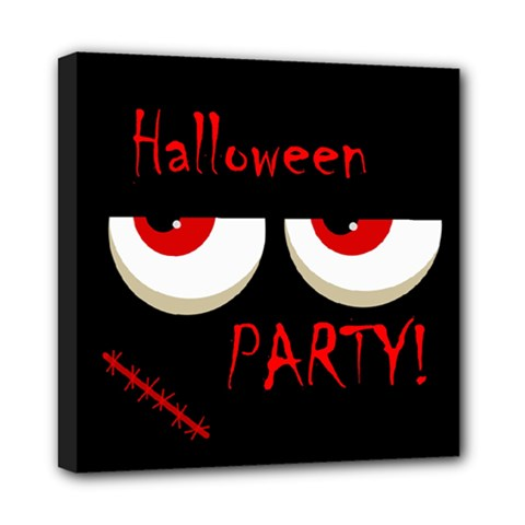 Halloween Party   Red Eyes Monster Mini Canvas 8  X 8  by Valentinaart