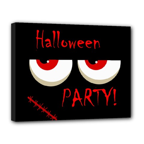 Halloween Party   Red Eyes Monster Canvas 14  X 11  by Valentinaart