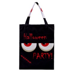 Halloween Party   Red Eyes Monster Classic Tote Bag by Valentinaart