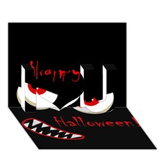 Happy Halloween   Red Eyes Monster I Love You 3d Greeting Card (7x5)