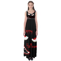 Happy Halloween - Red Eyes Monster Empire Waist Maxi Dress by Valentinaart