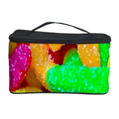 Neon Patterns Cosmetic Storage Case by AnjaniArt