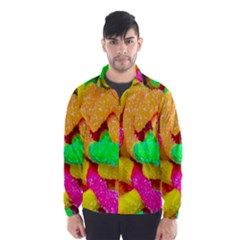 Neon Patterns Wind Breaker (men)