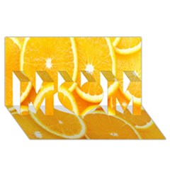 Orange Fruit Mom 3d Greeting Card (8x4) by AnjaniArt