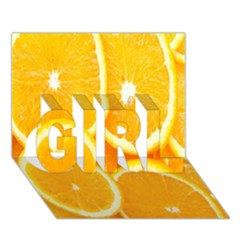 Orange Fruit Girl 3d Greeting Card (7x5) by AnjaniArt