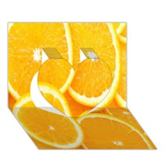 Orange Fruit Heart 3d Greeting Card (7x5) by AnjaniArt