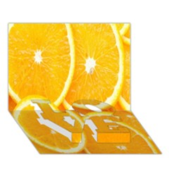 Orange Fruit Love Bottom 3d Greeting Card (7x5) by AnjaniArt
