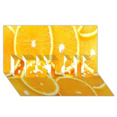 Orange Fruit Best Sis 3d Greeting Card (8x4) by AnjaniArt