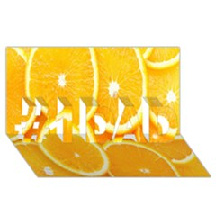 Orange Fruit #1 Dad 3d Greeting Card (8x4) by AnjaniArt